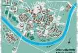 Universities In Ohio Map Ohio University S athens Campus Map
