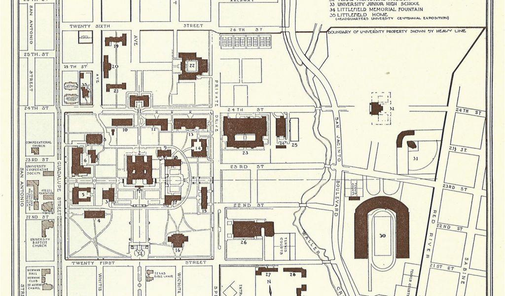 Universities In Texas Map University Of Texas At Austin