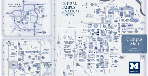 U Michigan Campus Map.University Of Michigan Building Map Secretmuseum