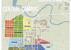 University Of Michigan north Campus Map Michigan State University ...