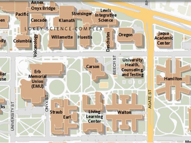 University Of oregon Campus Map Maps University Of oregon ...