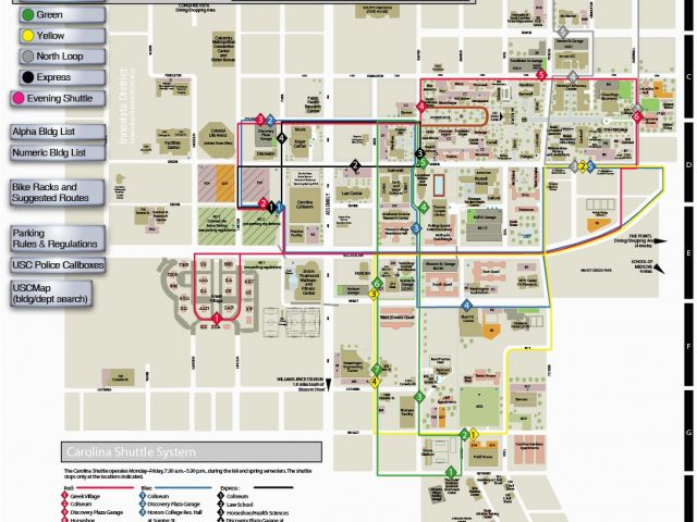 University Of southern California Campus Map Usc Columbia ...