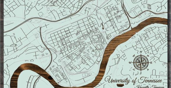 University Of Tennessee Knoxville Map Knoxville Tennessee Campus Map Fire Pine