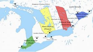 Upper Canada and Lower Canada Map Upper Canada Wikipedia
