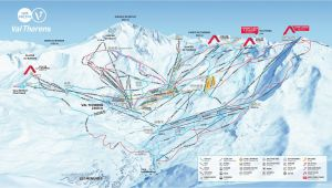Val Thorens France Map Val Thorens Piste Map 2019 Ski Europe Winter Ski