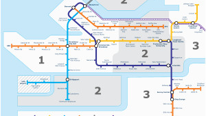 Vancouver Skytrain Canada Line Map Canada Line Wikivisually