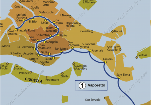 Venice Italy Street Map Transport Vaporetto Waterbus Bus Lines Maps Venice Italy