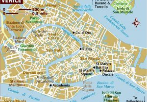 Venice Italy Street Map Venice Neighborhoods Map and Travel Tips