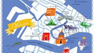 Venice On A Map Of Italy Diy Home Projects Maps Venice Map Venice Life Map