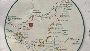 Verdon France Map Map Bild Von Route Des Cretes La Palud La Palud Sur Verdon