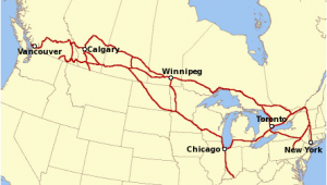 Via Canada Rail Map Canadian Pacific Railway Wikipedia