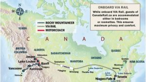 Via Rail Canada Route Map Trans Canada Train Trip On Rocky Mountaineer and Viarail