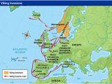 Viking Map Of Europe Viking Invasion Routes Viking Invasion Routes History