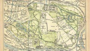 Vincennes France Map Bois De Vincennes Paris Vintage City Plan 1924 City Maps