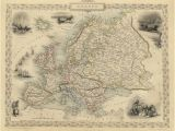 Vintage Maps Of Europe Vintage Map Europe 1851 Products Antique Maps Map