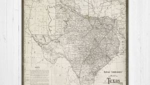Vintage Texas Maps Map Of Texas Texas Canvas Map Texas State Map Antique Texas Map