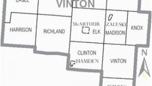 Vinton County Ohio Map Vinton County Ohio Wikivisually