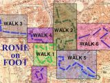 Walking Map Of Rome Italy Walking Map Of Rome Rome Guidebook with Videos Rome On Foot