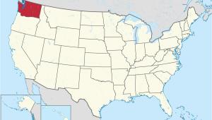 Washington and Canada Map Washington State Wikipedia