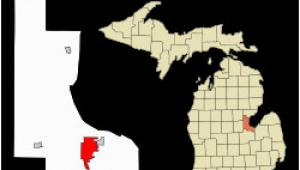 Waterford Michigan Map Bay City Michigan Wikipedia
