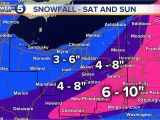Weather Map Akron Ohio these are the Latest Snowfall Projections for the Winter Storm This