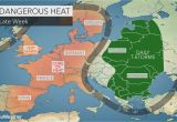 Weather Map for France Intense Heat Wave to Bake Western Europe as Wildfires Rage