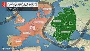 Weather Map In France Intense Heat Wave to Bake Western Europe as Wildfires Rage In Sweden