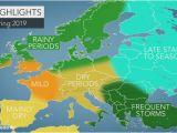 Weather Temperature Map Europe Accuweather 2019 Europe Spring forecast Accuweather
