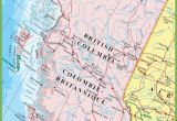Western Canada Map with Cities Large Detailed Map Of British Columbia with Cities and towns