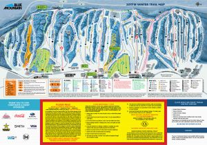 Western Canada Ski Resorts Map Blue Mountain Trail Map Onthesnow