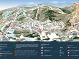 Western Canada Ski Resorts Map Mountain Creek Resort Trail Map Onthesnow