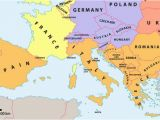 Western Europe Map with Cities which Countries Make Up southern Europe Worldatlas Com