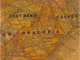 Where is Alvin Texas On the Map Brazoria County and Ft Bend County Texas 1920s Map Texas History