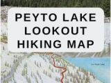 Where is Banff Canada On A Map Peyto Lake Map Of the Overlook Hiking Trail Along the Icefields