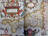 Where is Cornwall On the Map Of England Tudor Map Of Cornwall 1579 Christopher Saxton the