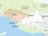 Where is Fillmore California On the Map Maps Show Thomas Fire is Larger Than Many U S Cities Los Angeles