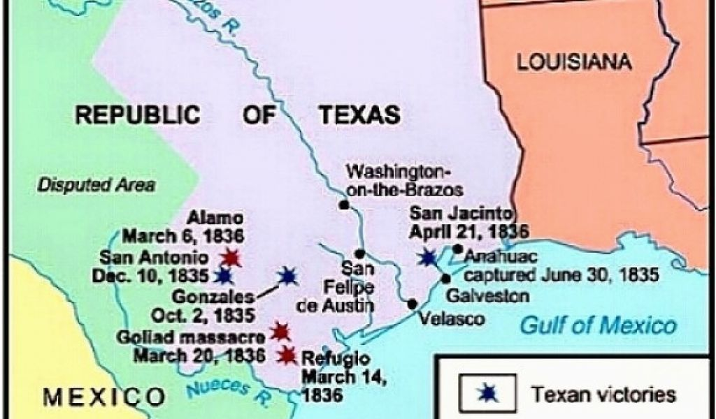 Map Of Texas During The Alamo.Where Is Goliad Texas On The Texas Map The Alamo Visual Text Images