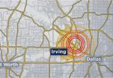Where is Irving Texas On the Map the United States Geological Survey Says A 2 7 Magnitude Earthquake