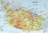 Where is Malta Located On A Map Of Europe Map Over Malta and Comino Big Map with Interesting Places