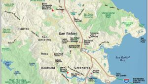 Where is Mill Valley California On Map Map Of Marin Directions