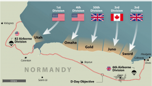Where is normandy France On A Map D Day normandy Landings Map Wwii Europe 1944 D Day normandy