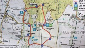 Where is norwich On the Map Of England the Circular Walk Route Map Picture Of Felbrigg Hall