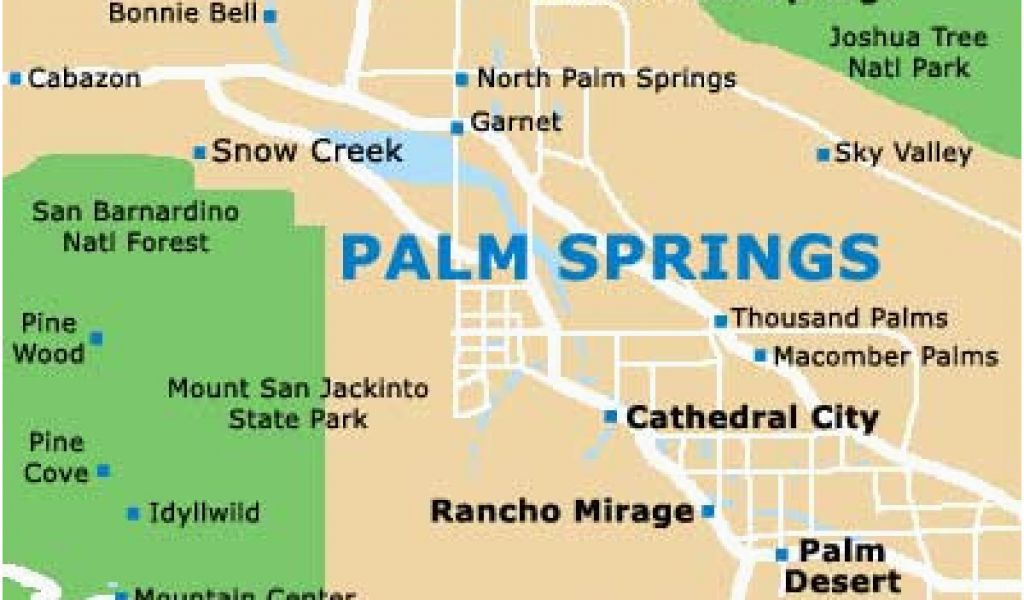 Map Of Palm Springs Ca Where is Palm Springs California On A Map Palm Desert Ca Map