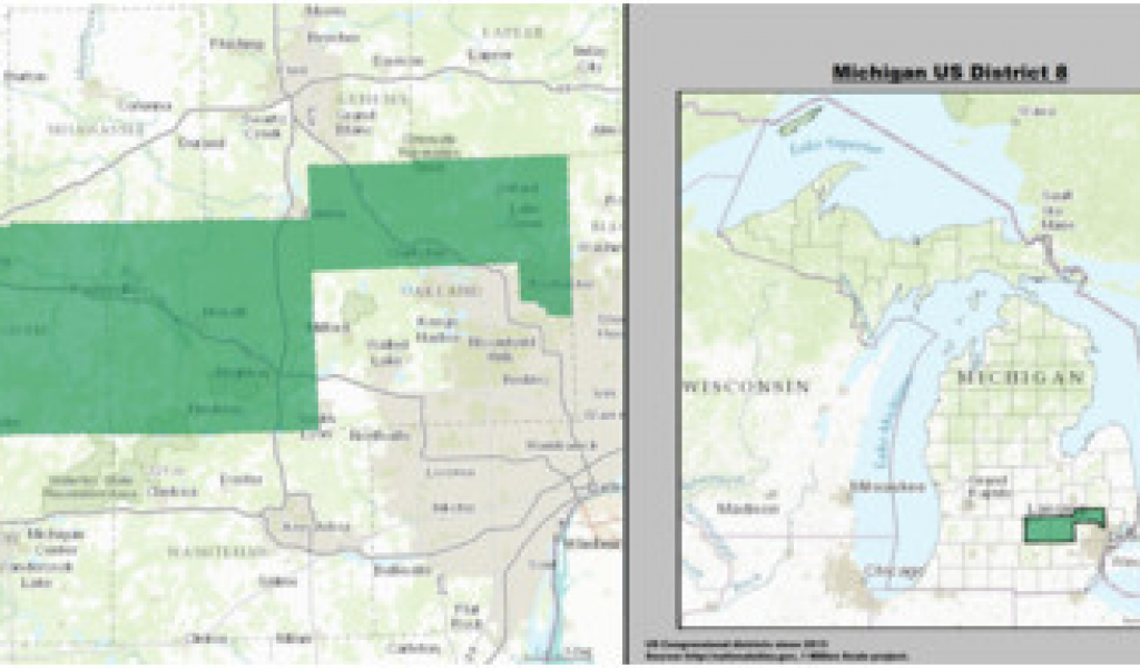 Where is Pontiac Michigan On the Map Michigan S 8th ... on illinois state legislative district map, 2014 illinois congressional districts map, arizona 9 congressional district map, illinois 8th district candidates, arizona 2012 congressional district map, il district map, illinois 8th judicial circuit map, illinois house district map,