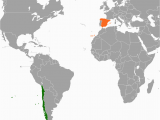 Where is Spain On A World Map Chile Spain Relations Wikipedia
