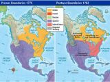 Where is Spain On A World Map Pre War and Post War Borders In northern America In 1775 1783
