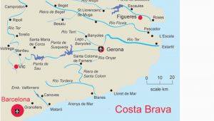 Where is the Costa Brava In Spain On A Map Map Of Costa Brave and Travel Information Download Free