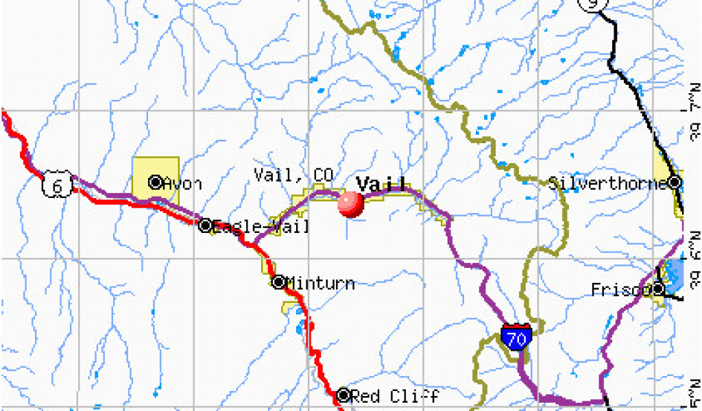 Where is Vail Colorado On the Map Vail Colorado Colorado Road Map ...