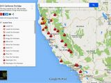 Wildfire Map Canada where are the Fires In California Map Secretmuseum