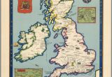 Winchester Map England the Booklovers Map Of the British isles Paine 1927 Map